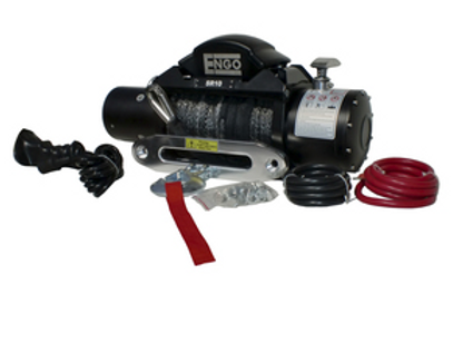 ENGO 10,000 LBS. SRS-SERIES WINCH   SYNTHETIC ROPE WITH ALUMINUM HAWSE