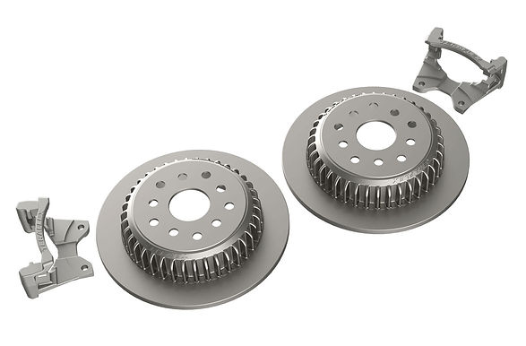 "JK: Rear Performance Big Rotor Kit w/ Solid Rotors – 5x5"" & 5x5.5"""
