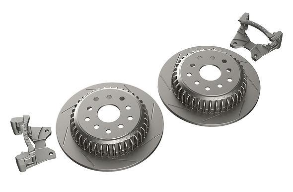 """JK: Rear Performance Big Rotor Kit w/ Slotted Rotors – 5x5"""" & 5x5.5"""""""