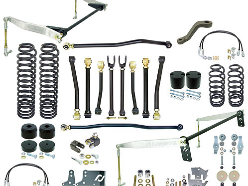 "RJ - JK 2D Johnny Joint® 4"" Suspension System (w/ F&R Antirocks w/ Aluminum Arms"