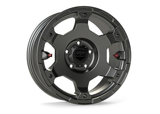 "Nomad Off-Road Wheel – Deluxe – 5x5"" – Titanium Gray"