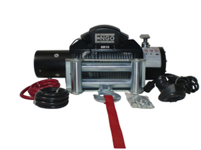 ENGO 10,000 LBS SR=SERIES WINCH | STEEL CABLE WITH ROLLER FAIRLEAD