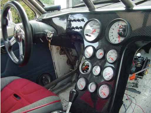 FIBERWERX FULL SIZE RACE DASH W/BUILT IN CENTER CONSOLE
