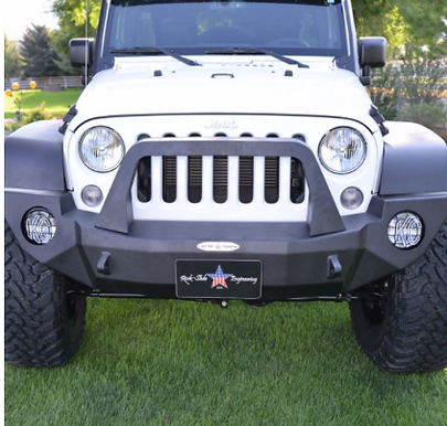 ROCK SLIDE FULL FRONT BUMPER W/BULL BAR NO WINCH OPENING |WRANGLER JK