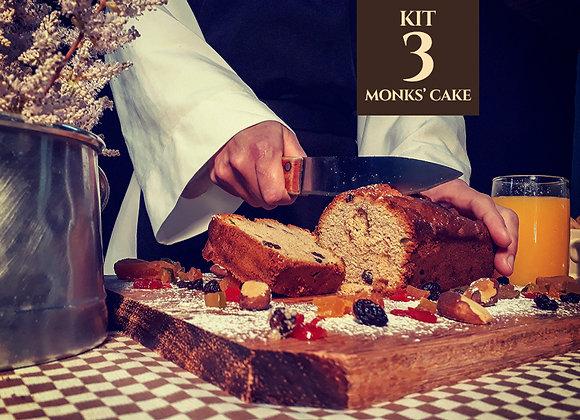 Kit com 3 Monks' Cake