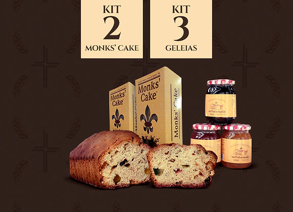 Kit 2 Monks' Cake + 3 geleias