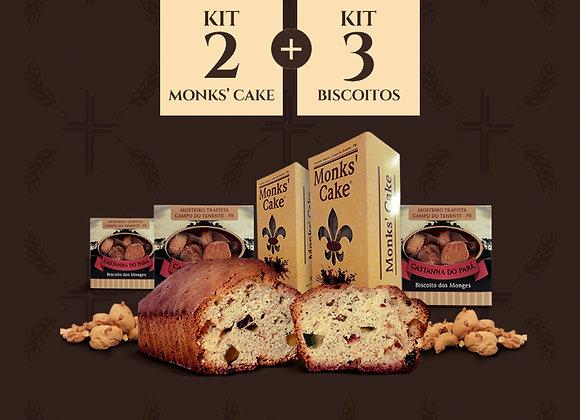 Kit com 2 Monks' Cake + 3 biscoitos