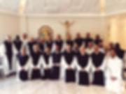 Comunidade monástica no dia de sua consagração anual a Nossa Senhora (Dezembro de 2019)