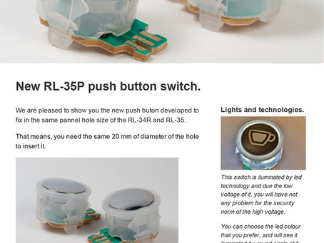 New RL-35P push button switch