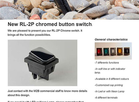New RL-2P chromed button switch
