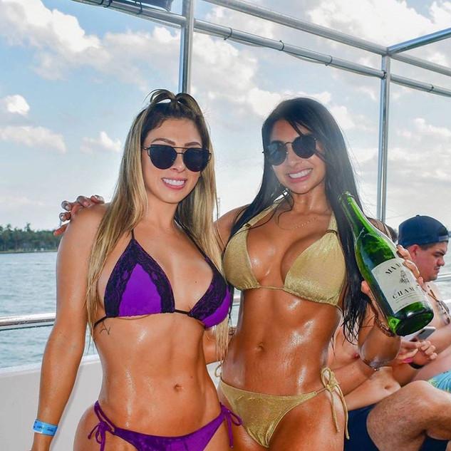 Miami party boat fun in the sun