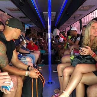 Party bus ride to Miami beach party boat