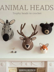 Animal Heads: Trophy Heads to Crochet  This amazing collection of trophy animal heads to crochet will be a stunning addition to any home. Inside this colourful book there are 10 fabulous trophy animals to choose from. Simply place above the fireplace for a great conversation piece or on a child's bedroom wall for a playful decoration. The projects vary in level of complexity and there is a comprehensive techniques section to help you learn all the necessary skills. Each project includes beautifully drawn crochet charts and detailed instructions. Projects include: hare, mouse, ram, bear, stag and zebra.  Paperback: 176 pages   Publisher: GMC Publications (28 Nov2015)      ISBN-10: 178494064X ISBN-13: 9781784940645