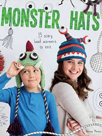 """Monster Hats: 15 scary head warmers to knit  These hats certainly make a statement, and that statement is """"Rawwwwwwwr!"""" Not for the faint-hearted, these beautifully designed knitted hats will keep you cozy while turning some heads. Hopefully not right around. Fun and vibrant, they are just the thing for getting you noticed on a winter's night. Projects include: a creepy zombie, an enchanting griffin, an amusing yeti and a stylish demon.  Paperback:128pages   Publisher:GMC Publications (7 Oct2016)      ISBN-10:178494212X ISBN-13:9781784942120"""