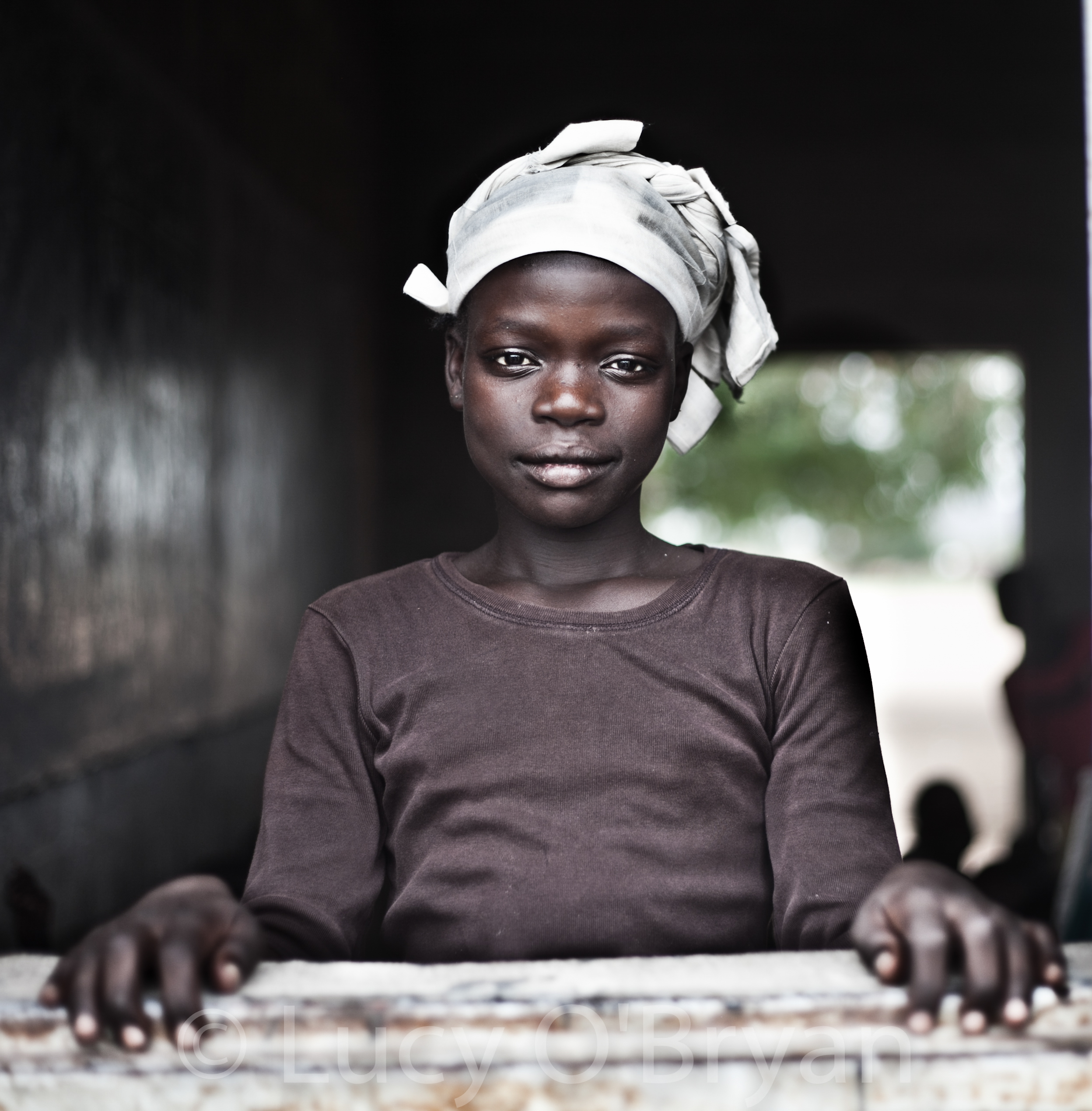 Girl in Window, Cameroon