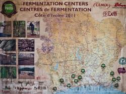 Ivory Coast Cacao Map