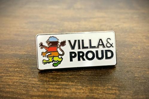 Villa & Proud Pin Badge