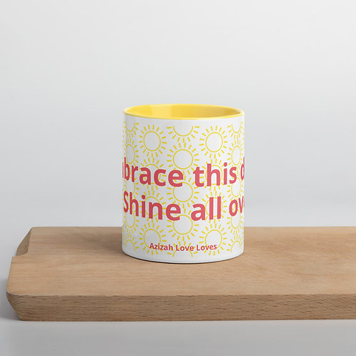 Embrace this Day Mug with Color Inside