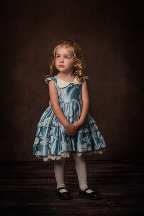 Child Portrait in Aggie and Francois Dress