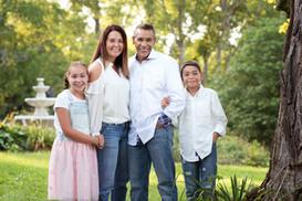 Outdoor summer family portrait