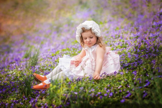 Lavender Flowers Child Artistic Portrait