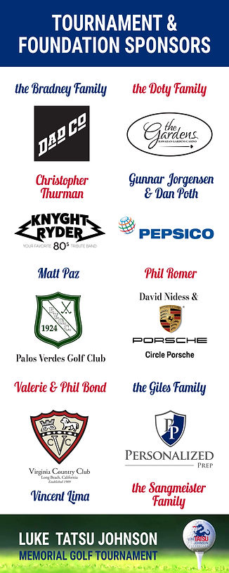 Luke Tatsu Johnson Memorial Golf Tournament Sponsors 2019