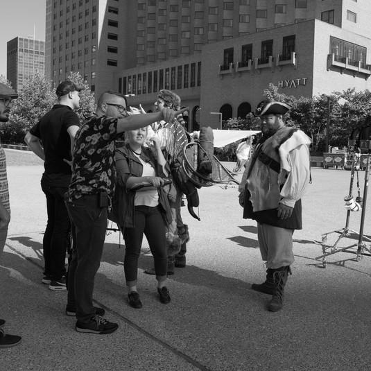 Lewis & Clark: crew on set