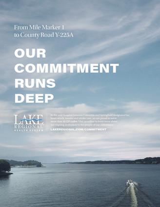 "Lake Regional Health System // Print / ""Mile Marker 1"""""