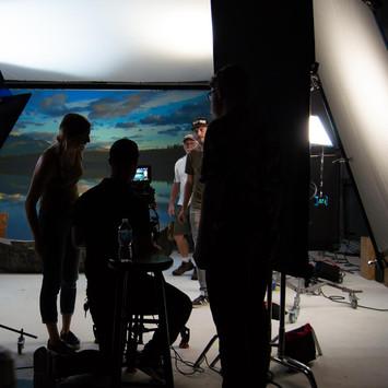 Lewis & Clark: on set
