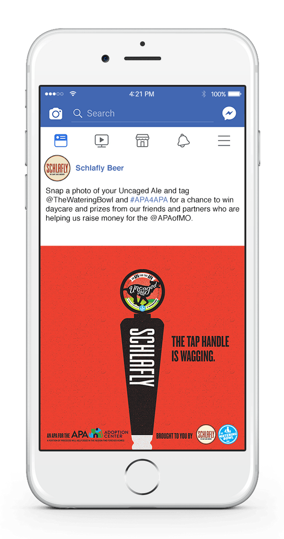 Uncaged Ale Facebook 1-UP TAP HANDLE WAG