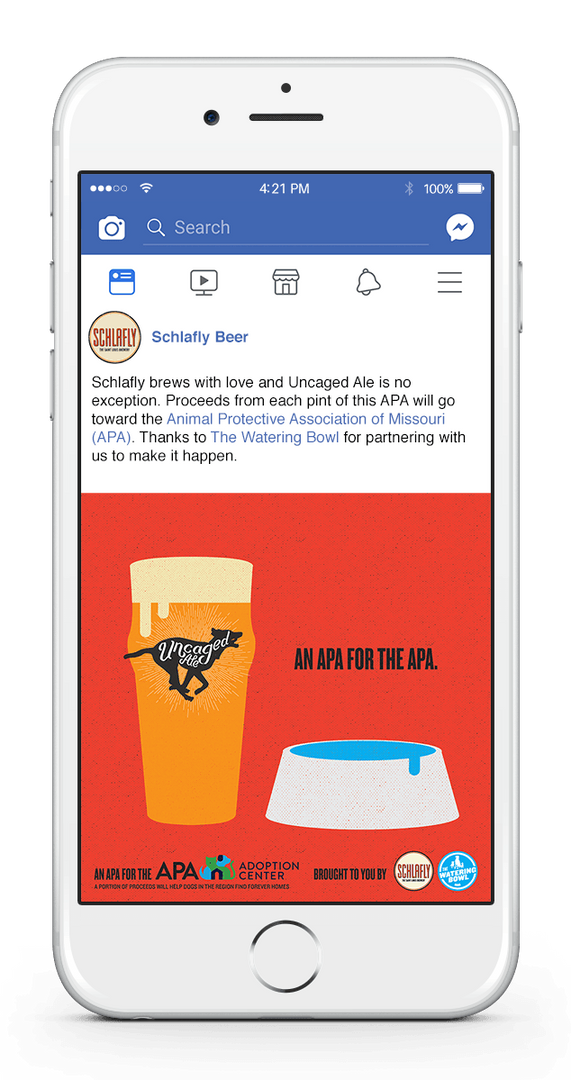 Uncaged Ale Facebook 1-UP GLASS+BOWL Moc