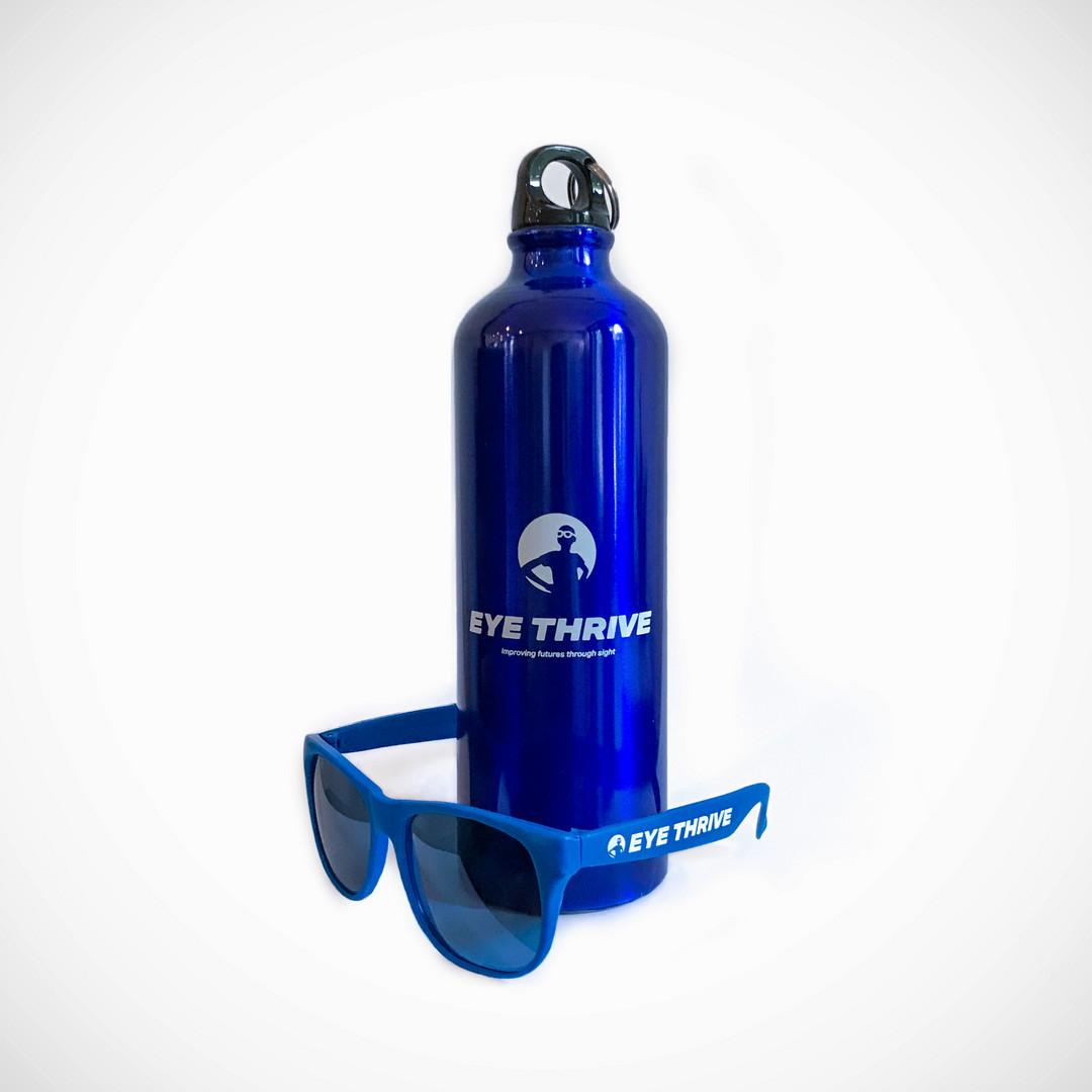 Eye Thrive Water Bottle & Sunglasses