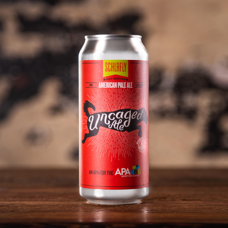 Schlafly Uncaged Ale Packaging, Single Can