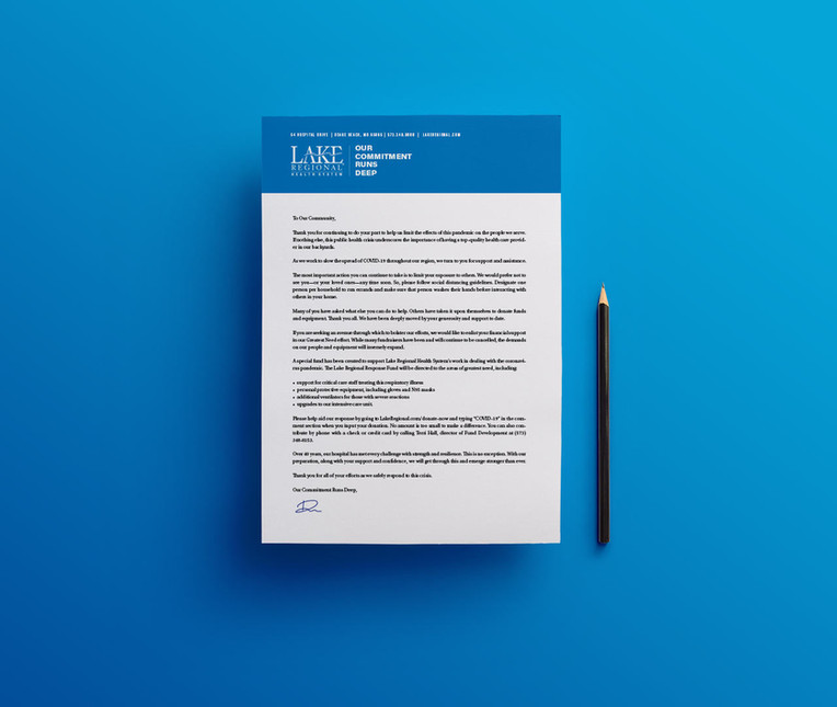 Lake Regional Health System letter from the CEO