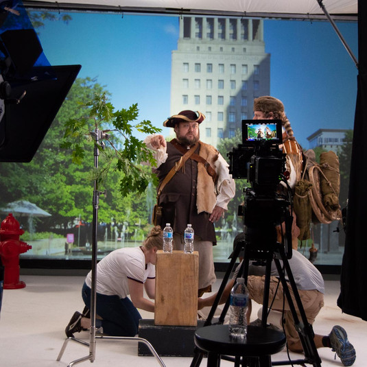 Lewis & Clark: on set