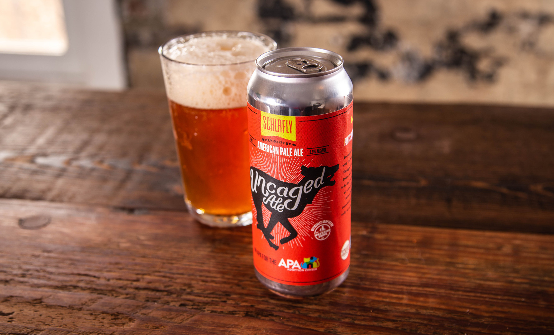 Schlafly Uncaged Ale Packaging, Pour