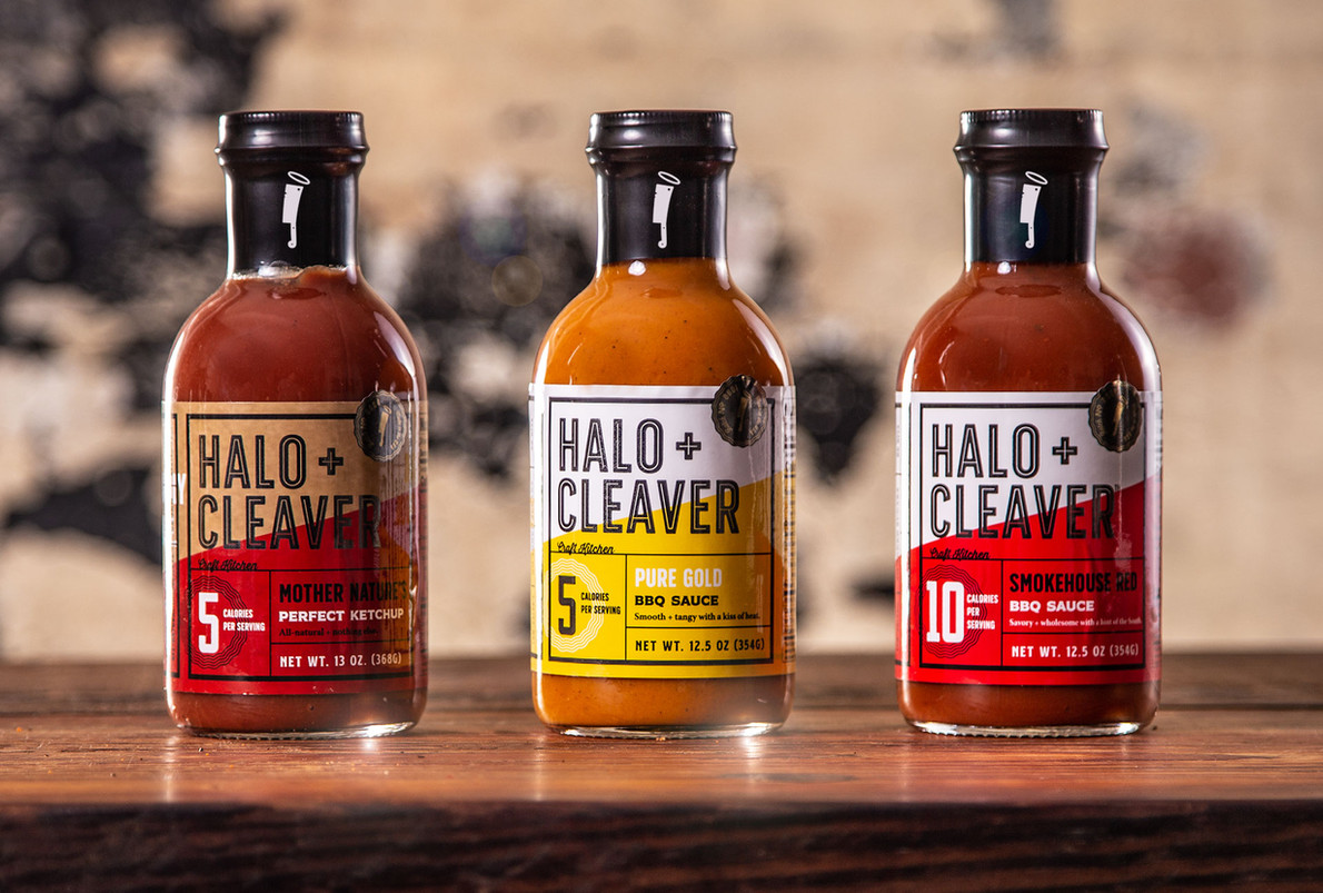 Halo + Cleaver Packaging, Sauces & Ketchup