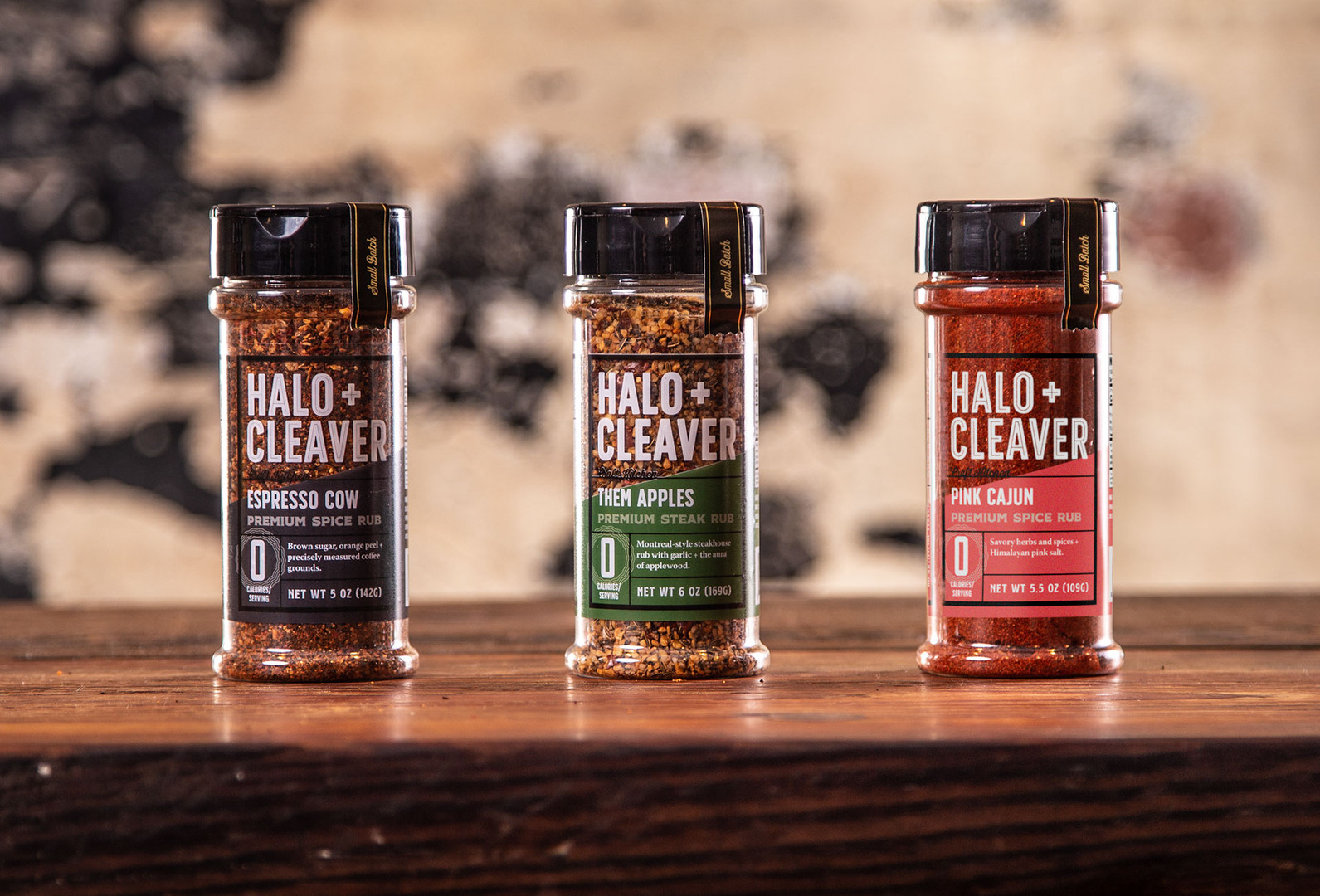 Halo + Cleaver Packaging, Spice Rubs