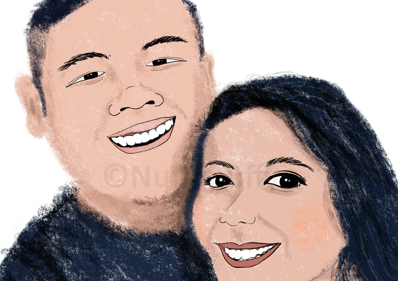 Caricature for a Couple
