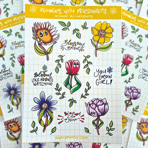 Flowers with Personality Stickers