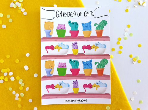 Garden of Cats Stickers