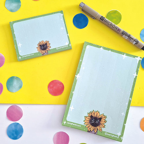 Pre Order: Flower Cat Notepad