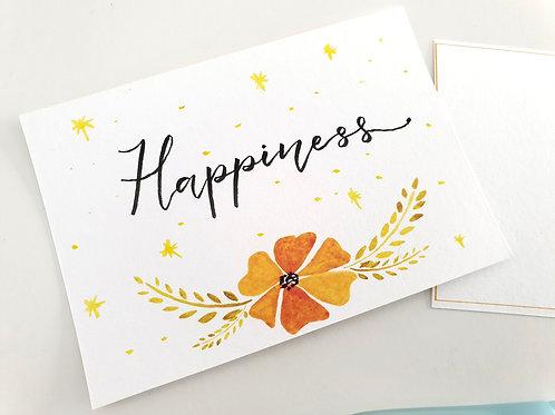Handwritten Postcards: Happiness
