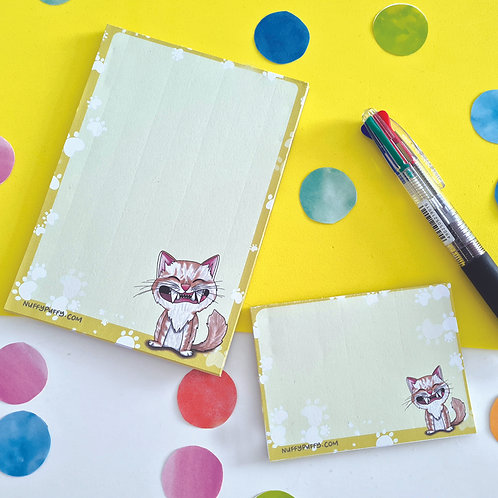 Pre Order: Smiley Kitty Notepad