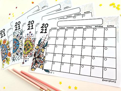 Undated 2021 Calendars
