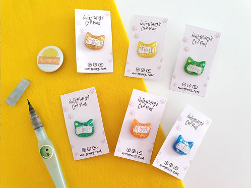 Cat Resin Lapel Pins
