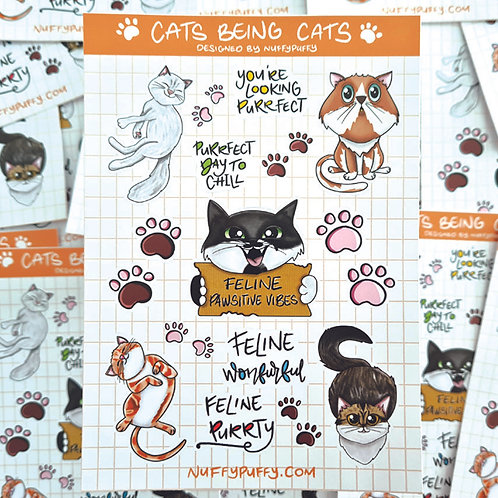 Cats Being Cats Stickers