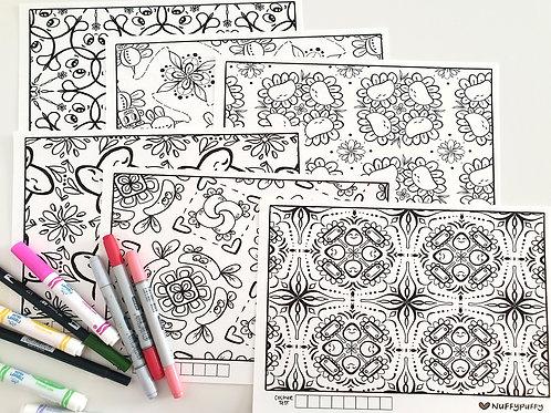 Digital Download | Kawaii Mandala Colouring Sheets