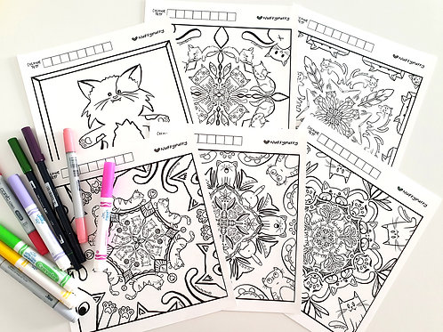 Kitty Colouring Sheets
