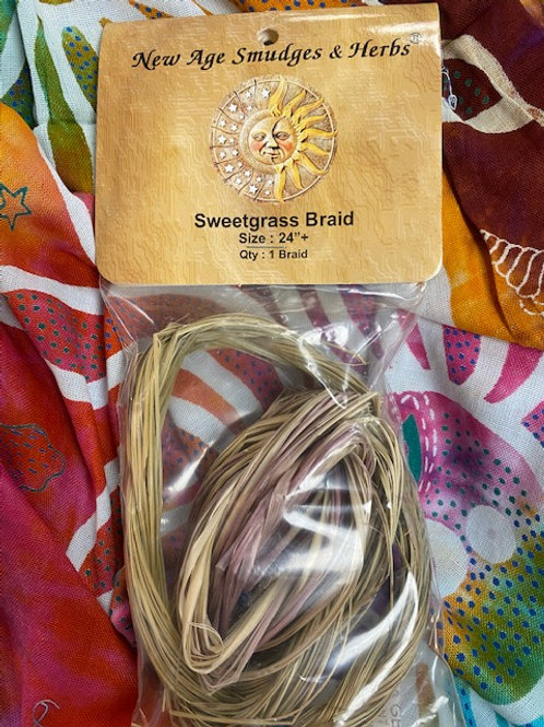 Sweet Grass Braid Smudge 24""